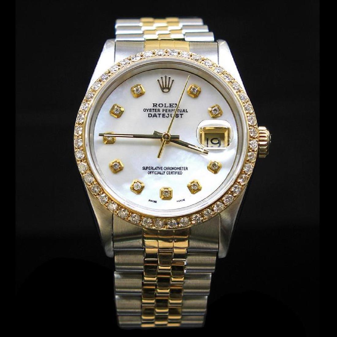 Rolex Two-Tone DateJust 36mm 1.65 cts.  Diamond Bezel