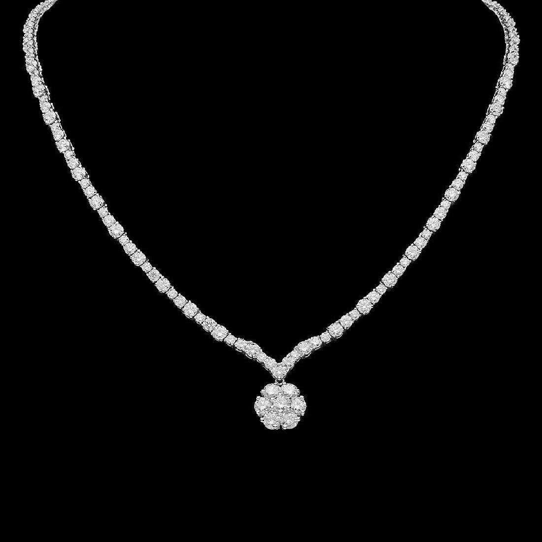 18K Gold 15.79ct Diamond Necklace