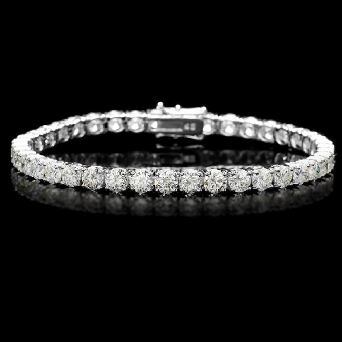 18k White Gold 13.00ct Diamond Tennis Bracelet