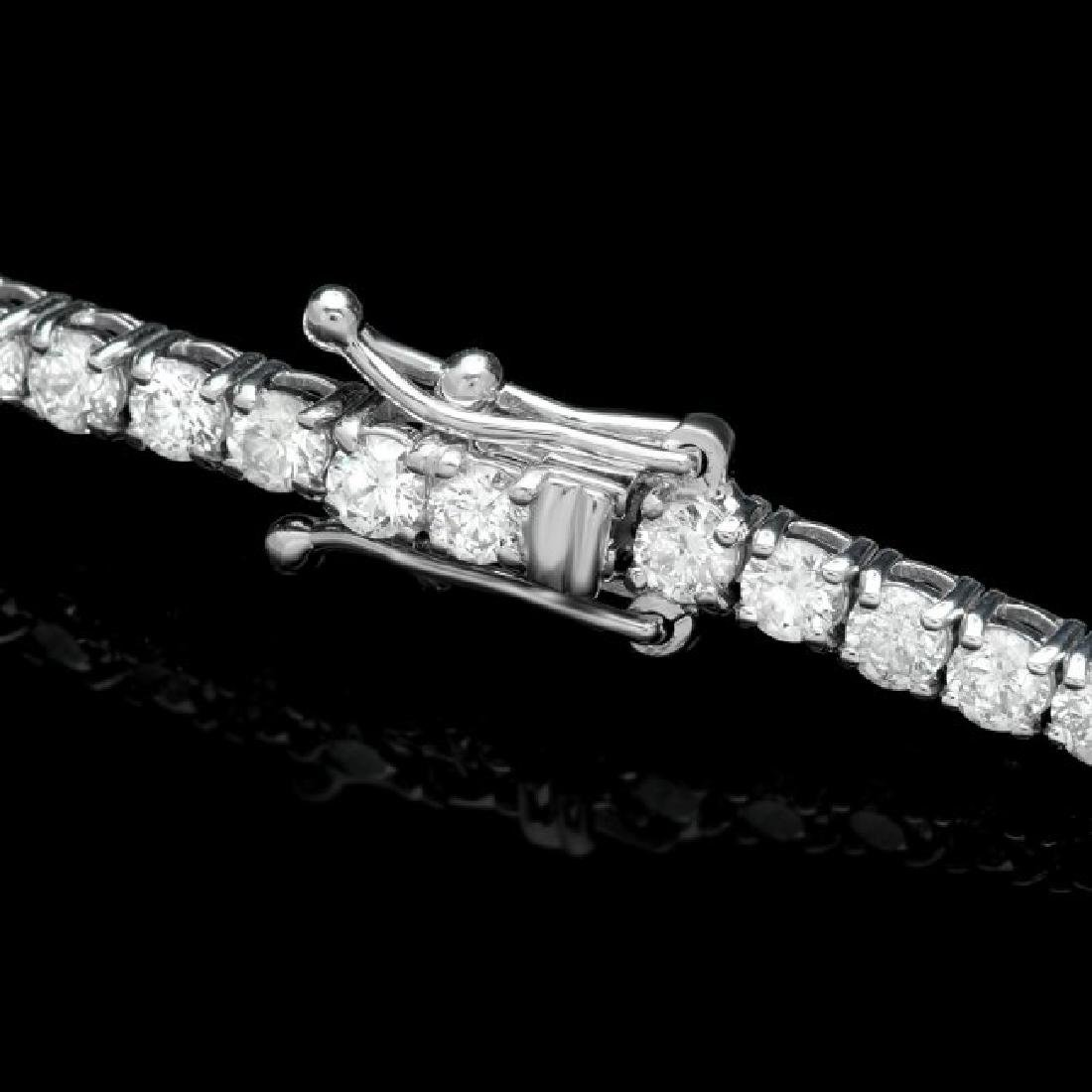 18k White Gold 4.65ct Diamond Bracelet - 2