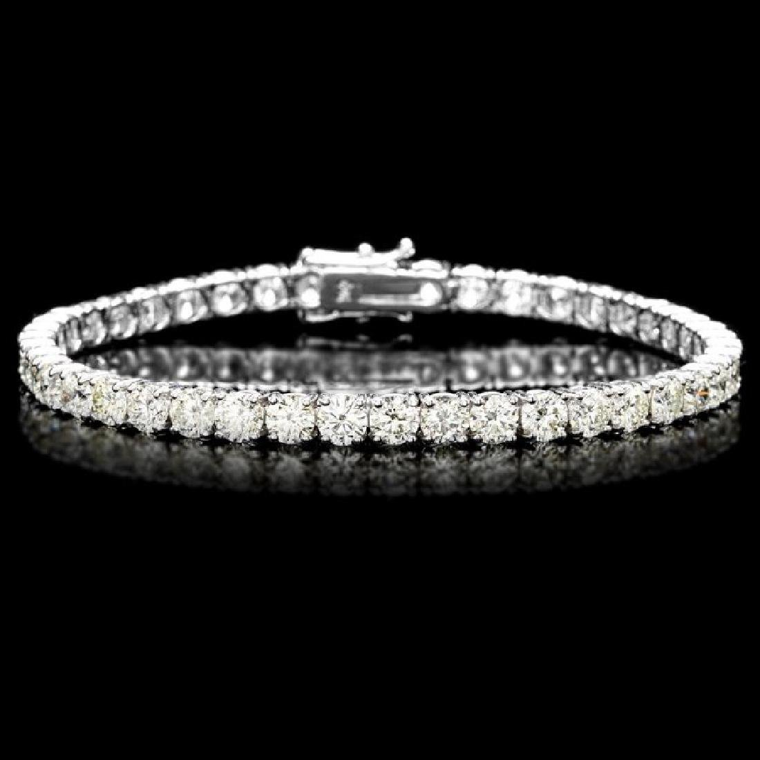18k White Gold 12.00ct Diamond Tennis Bracelet