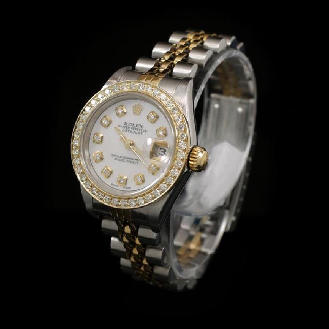 Rolex DateJust Two-Tone 26mm Custom Diamond Bezel - 2