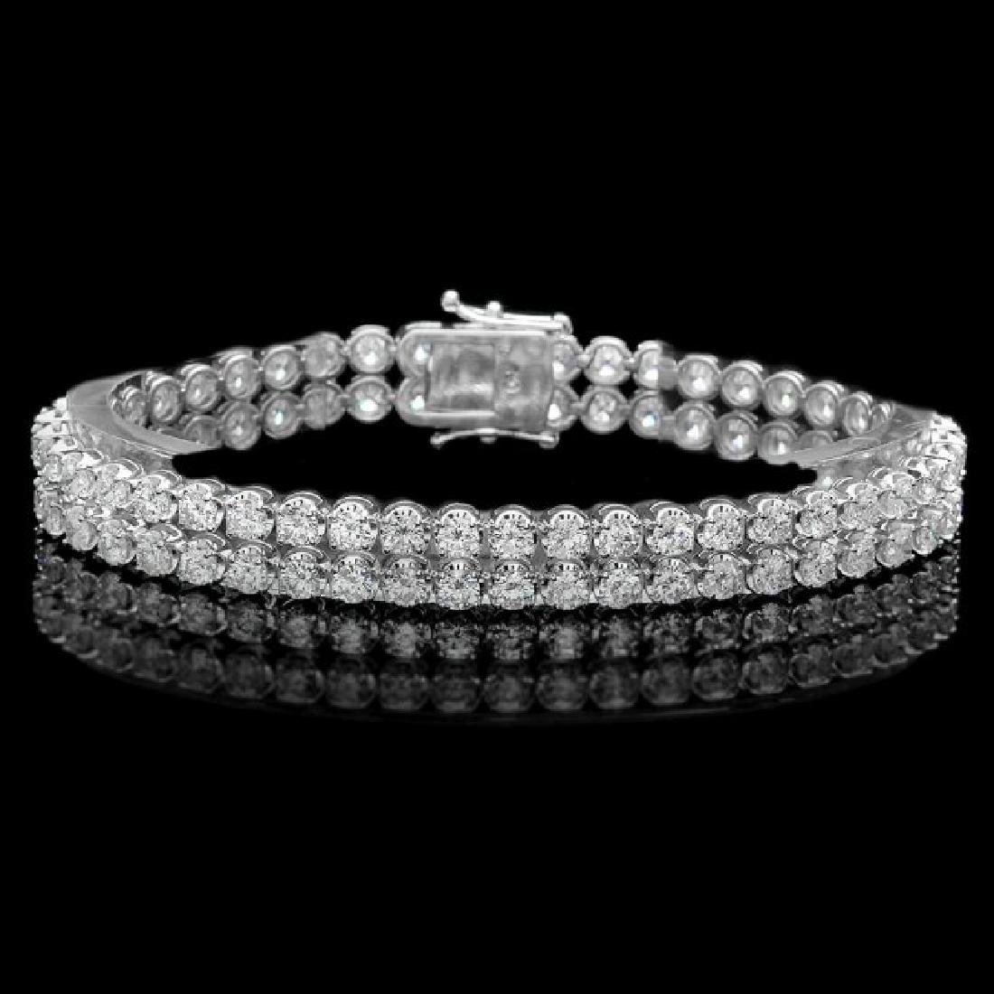 18k White Gold 10.80ct Diamond Bracelet