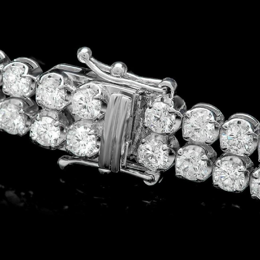 18k White Gold 10.80ct Diamond Bracelet - 2