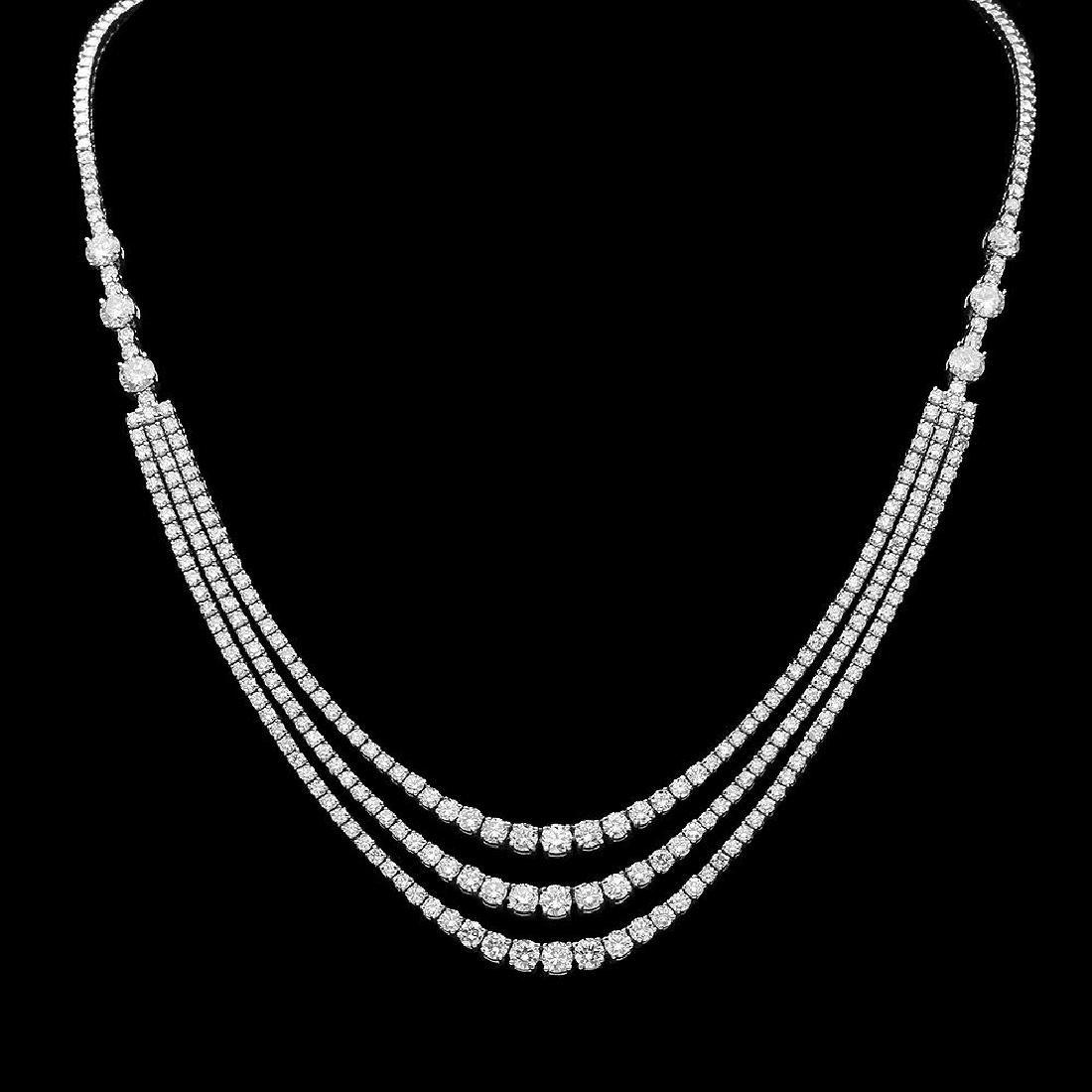 14K Gold 12.20ct Diamond Necklace
