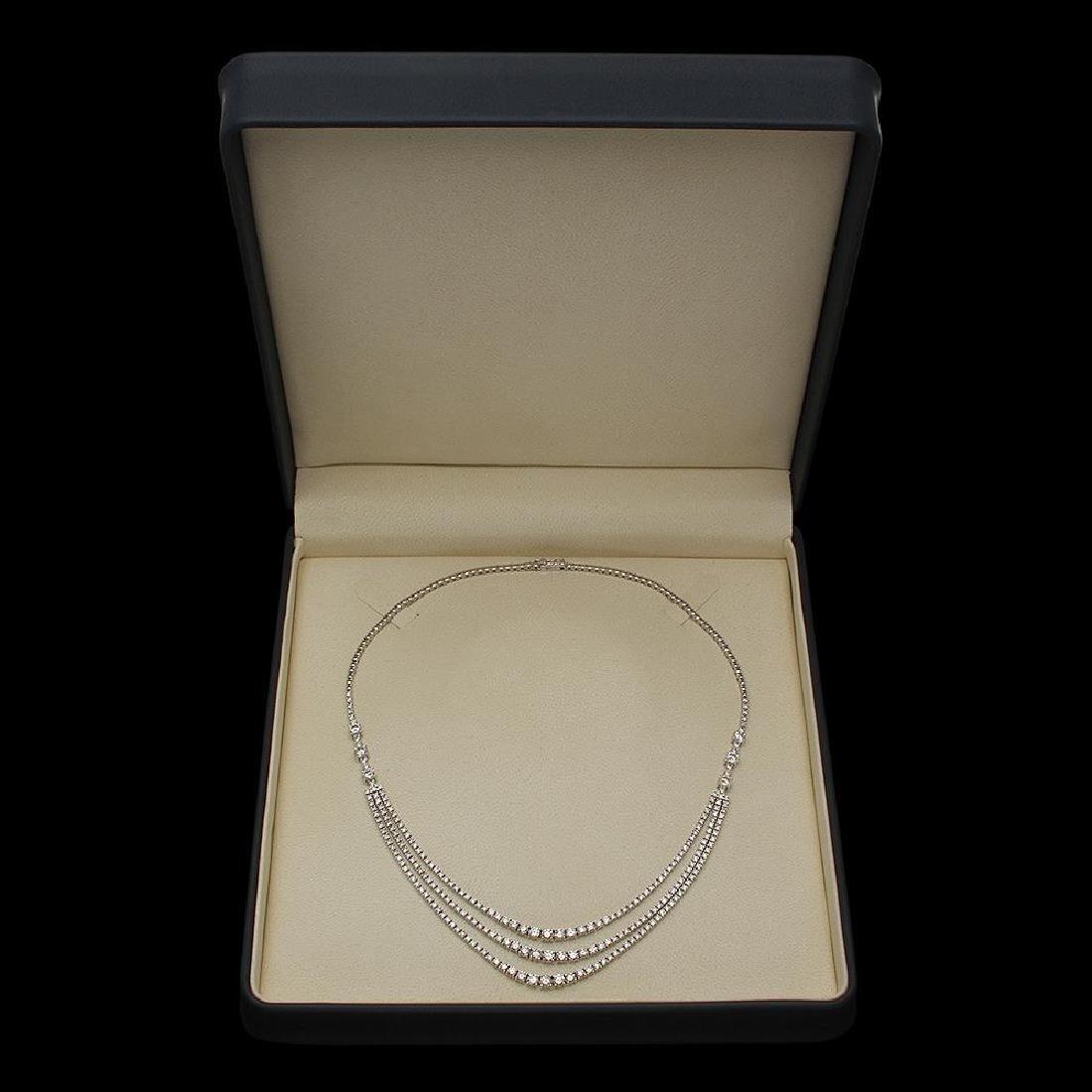 14K Gold 12.20ct Diamond Necklace - 4