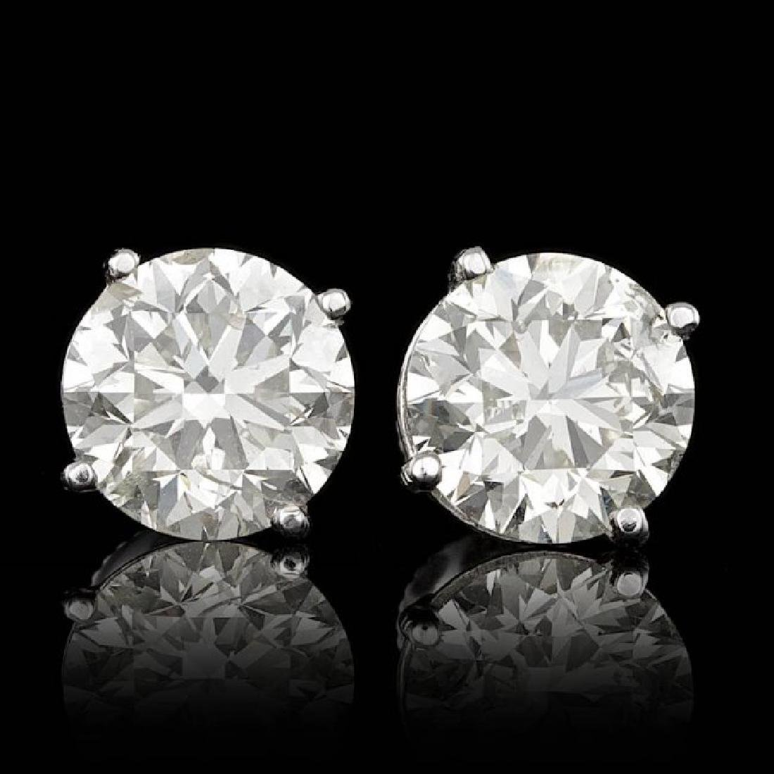 14k White Gold 5.09ct Diamond Earrings