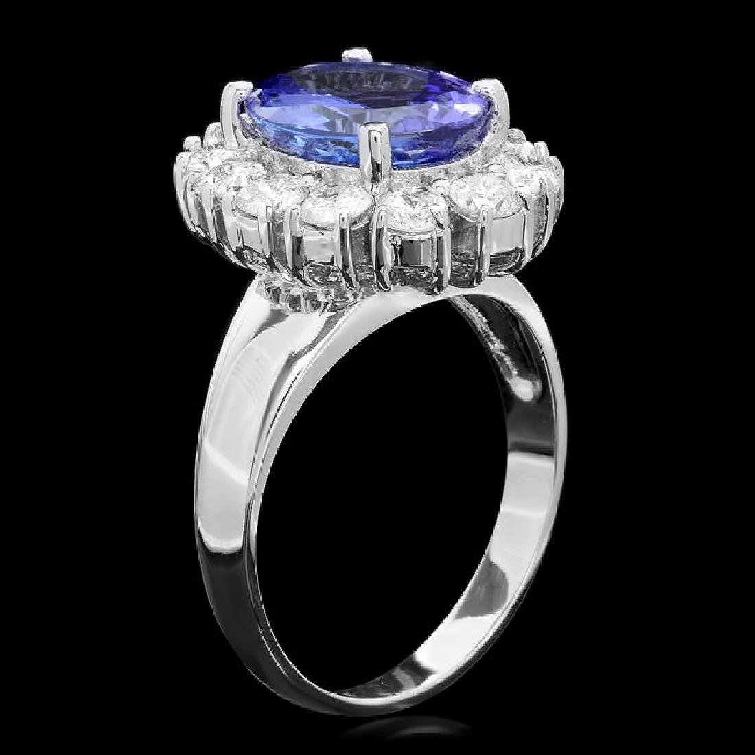 14k Gold 3.50ct Tanzanite 1.20ct Diamond Ring - 2
