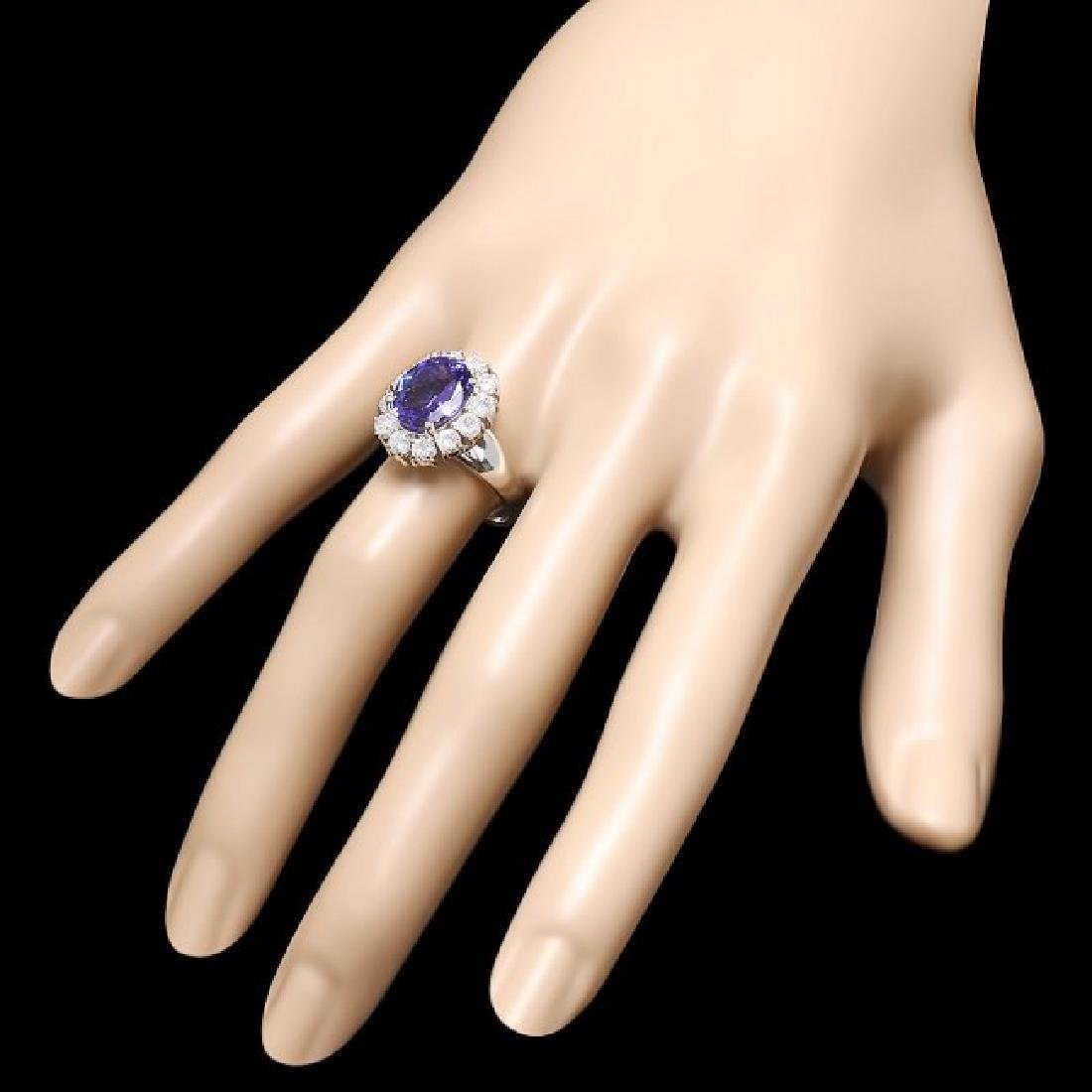 14k Gold 3.50ct Tanzanite 1.20ct Diamond Ring - 3