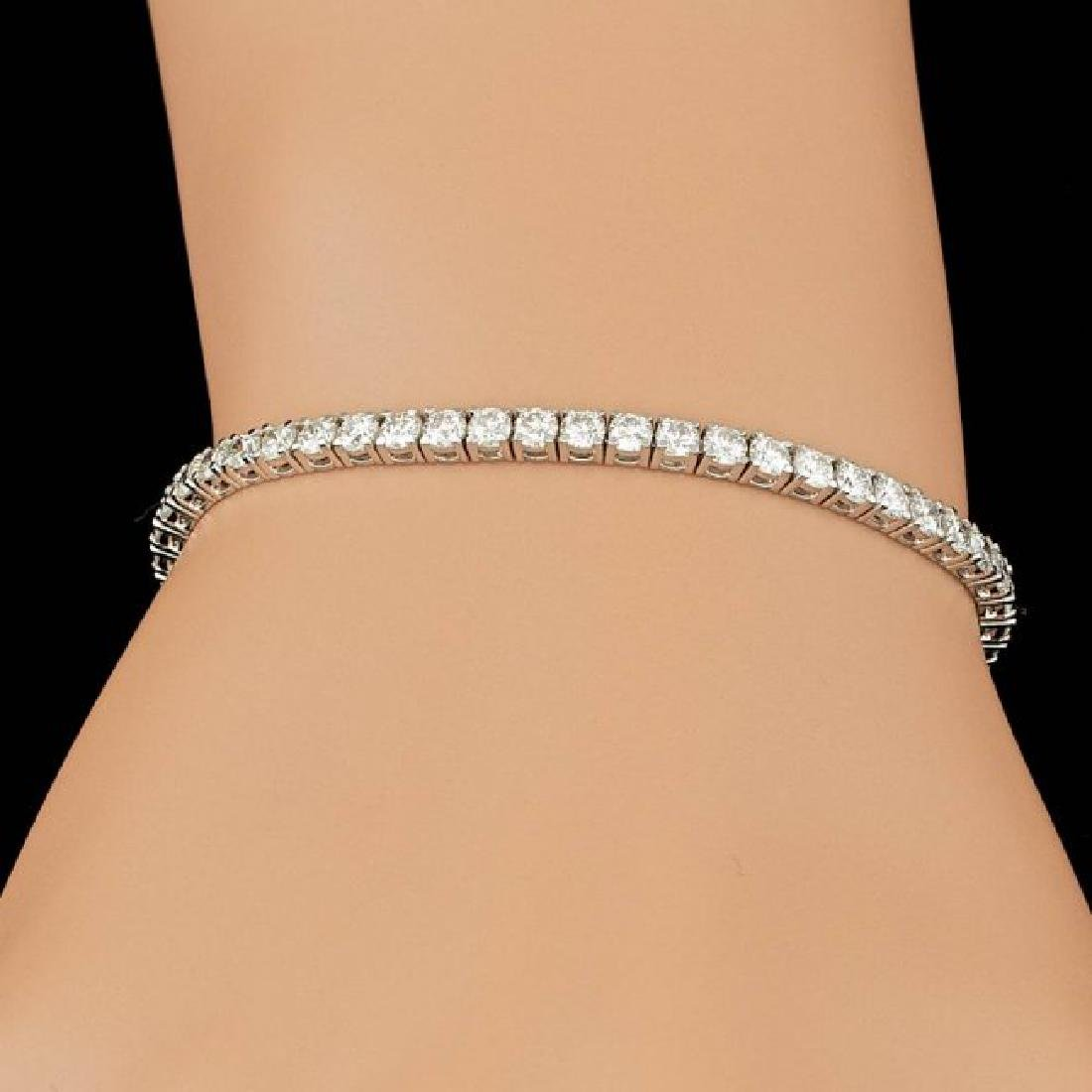 18k White Gold 5.30ct Diamond Bracelet - 4