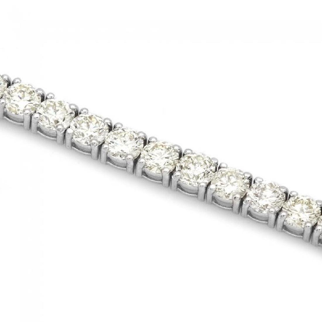 18k White Gold 12.00ct Diamond Tennis Bracelet - 3
