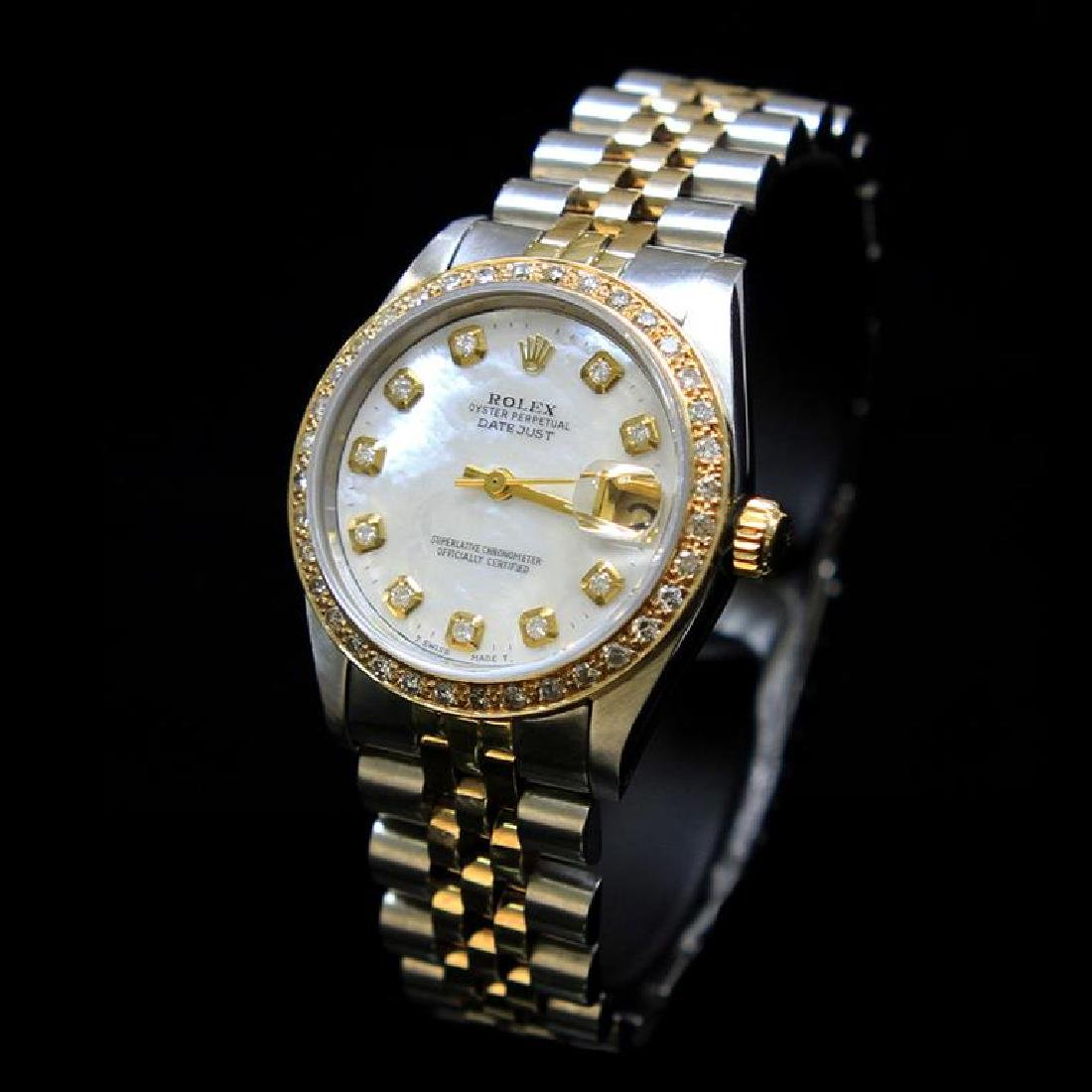 Rolex Two-Tone DateJust 31mm White MOP Dial Diamond - 2