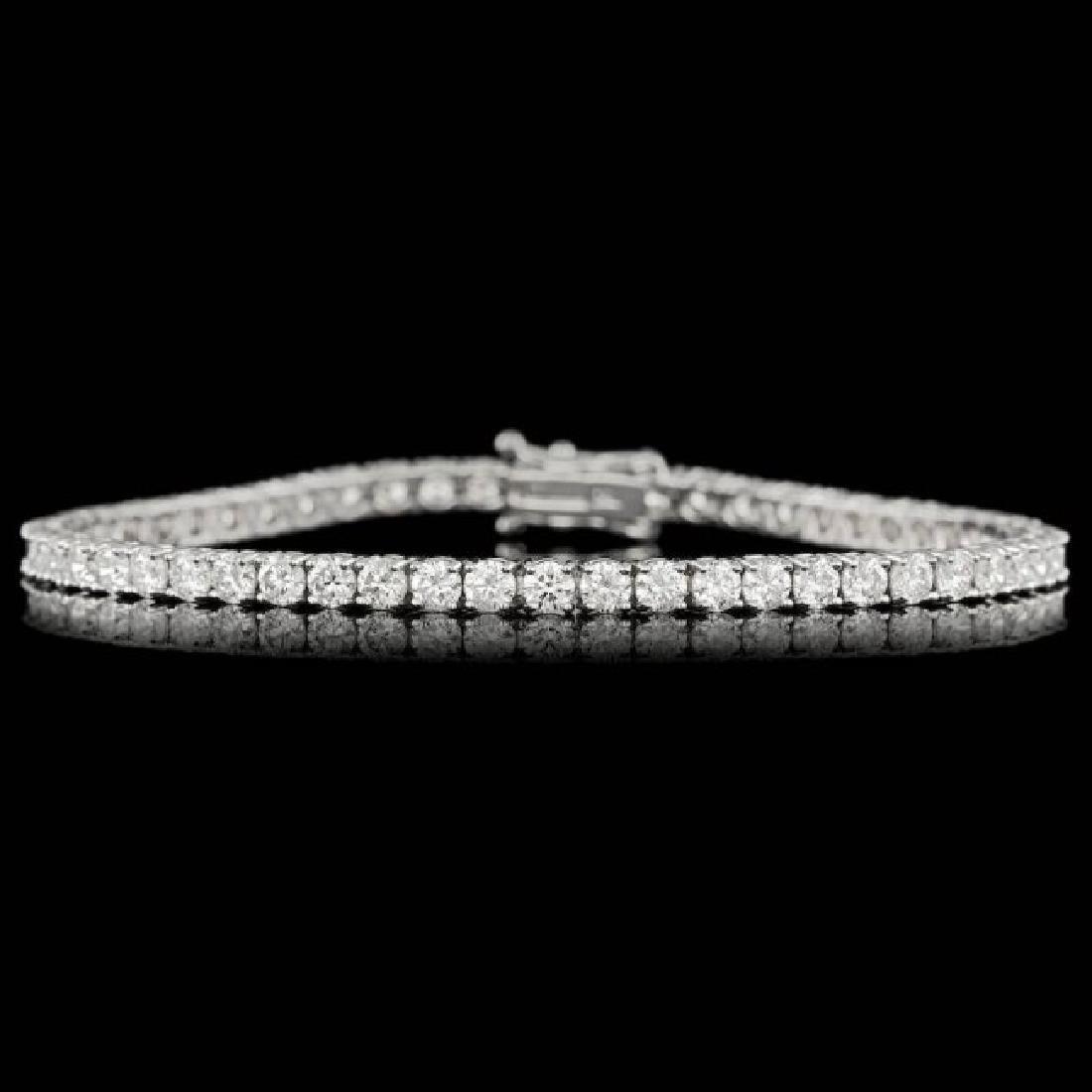 18k White Gold 6.00ct Diamond Bracelet