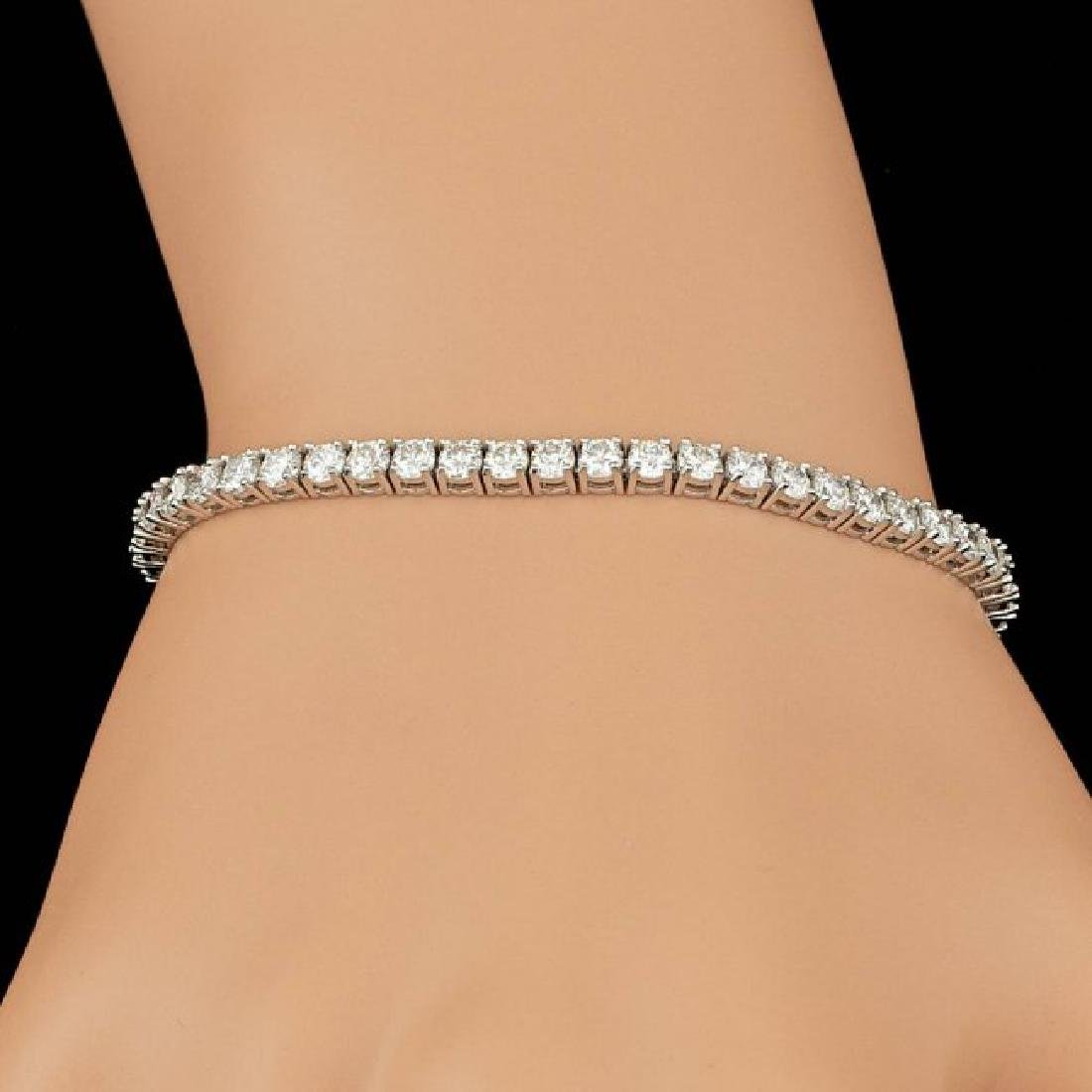 18k White Gold 6.00ct Diamond Bracelet - 4