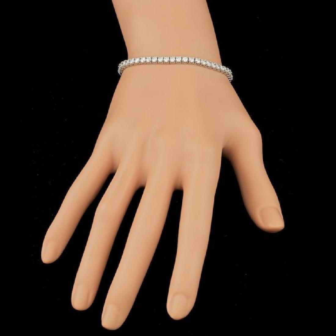 18k White Gold 6.00ct Diamond Bracelet - 5