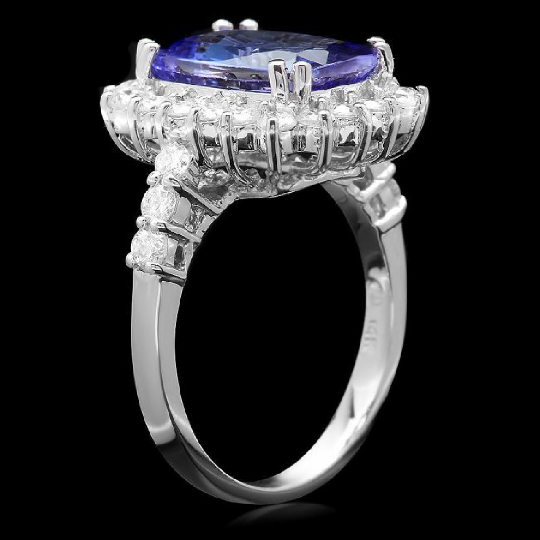 14k Gold 4.00ct Tanzanite 1.10ct Diamond Ring - 3