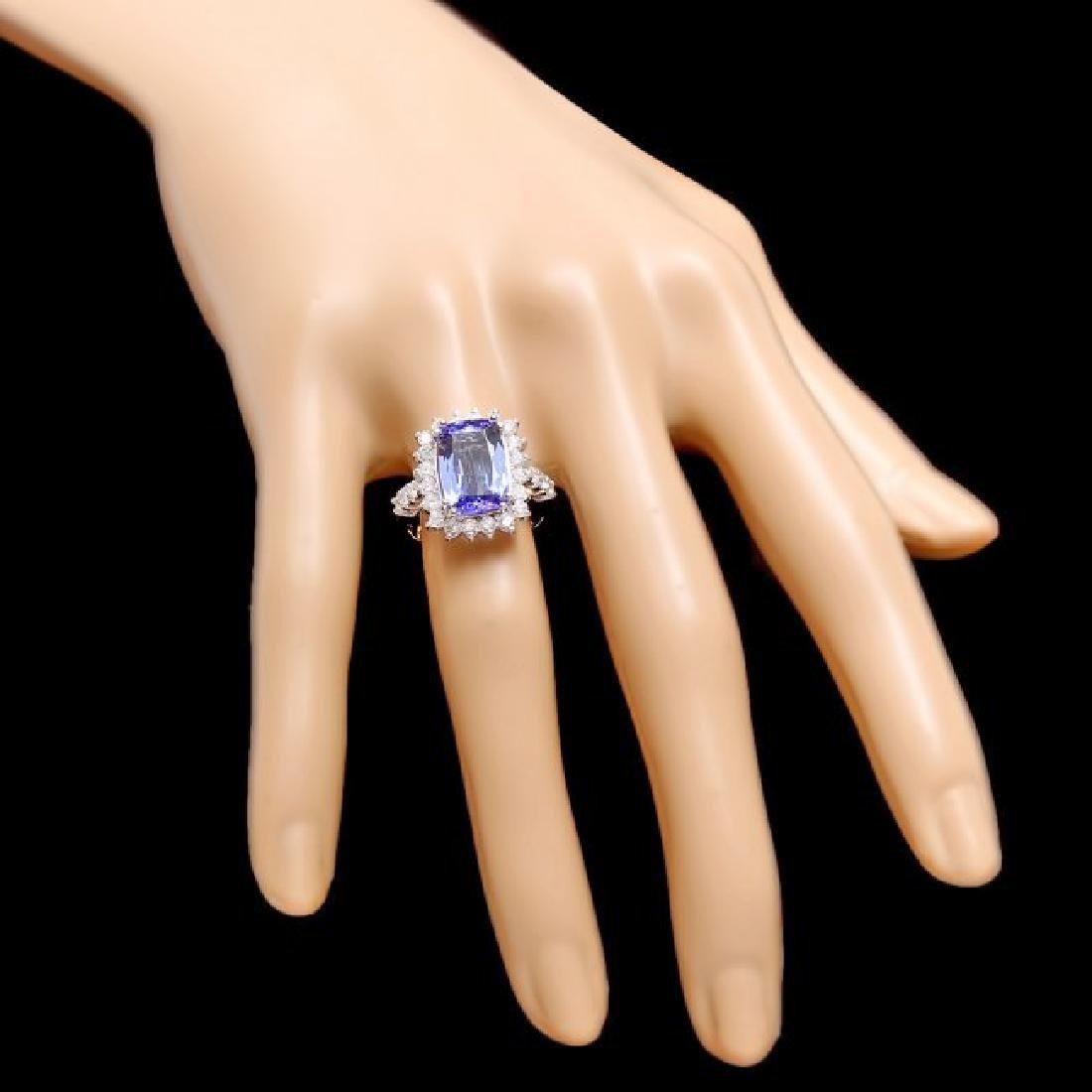 14k Gold 4.00ct Tanzanite 1.10ct Diamond Ring - 4