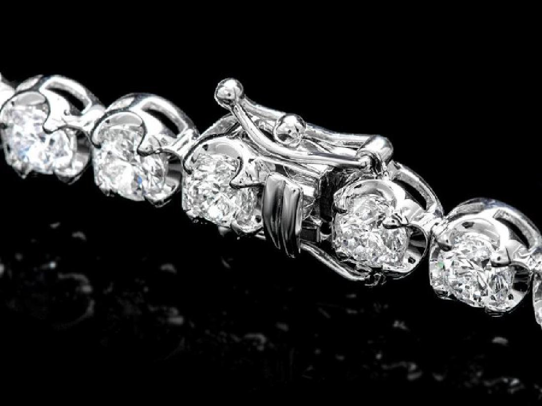 18k White Gold 10.00ct Diamond Tennis Bracelet - 2