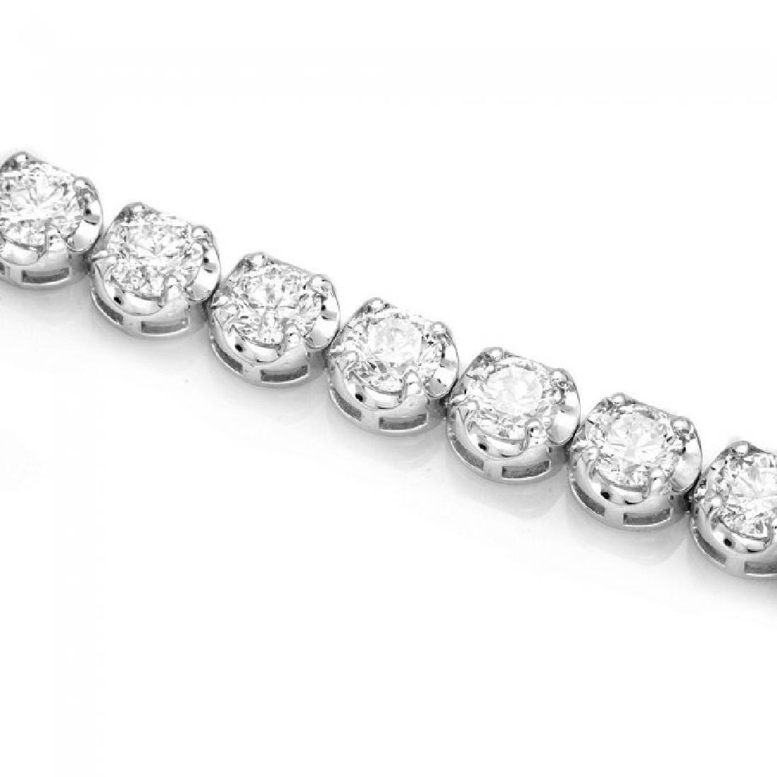18k White Gold 10.00ct Diamond Tennis Bracelet - 3