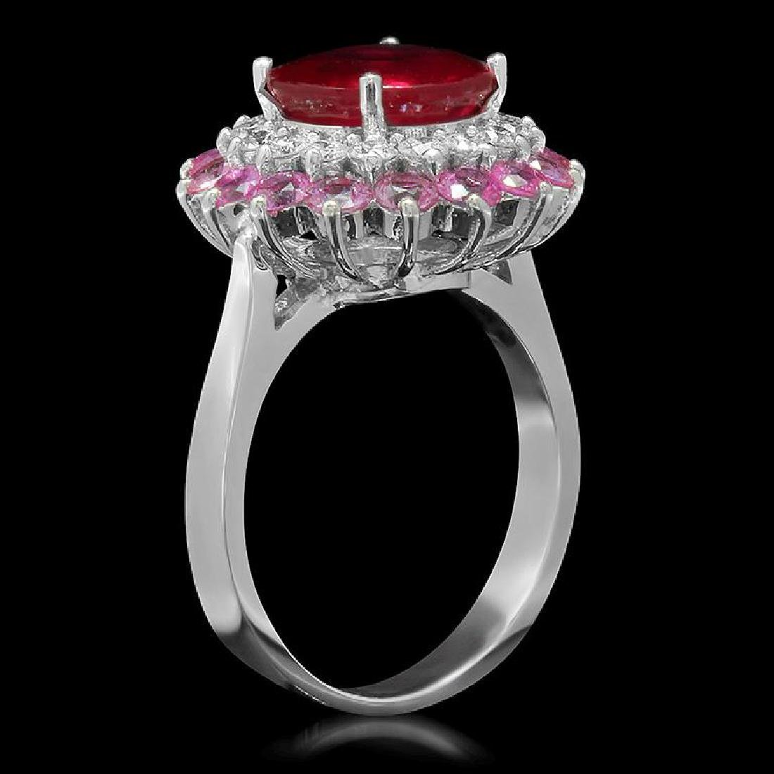 14K 2.78ct Ruby, 2.08ct Pink Sapphire, 0.61ct Diamond - 2