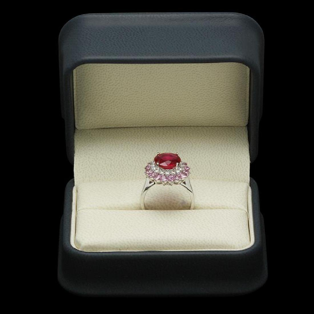 14K 2.78ct Ruby, 2.08ct Pink Sapphire, 0.61ct Diamond - 3