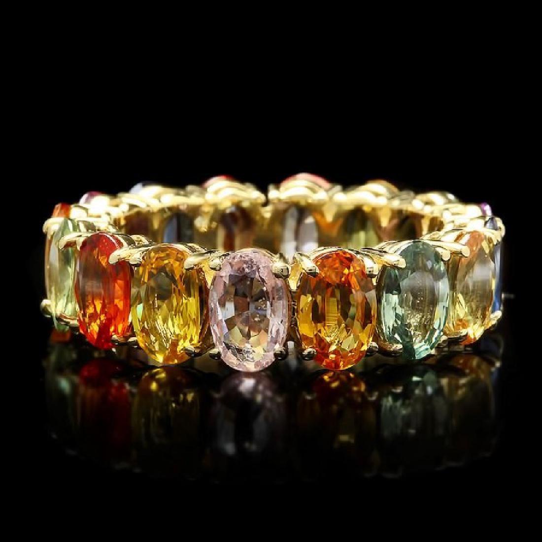 14k Yellow Gold 7.80ct Sapphire Ring
