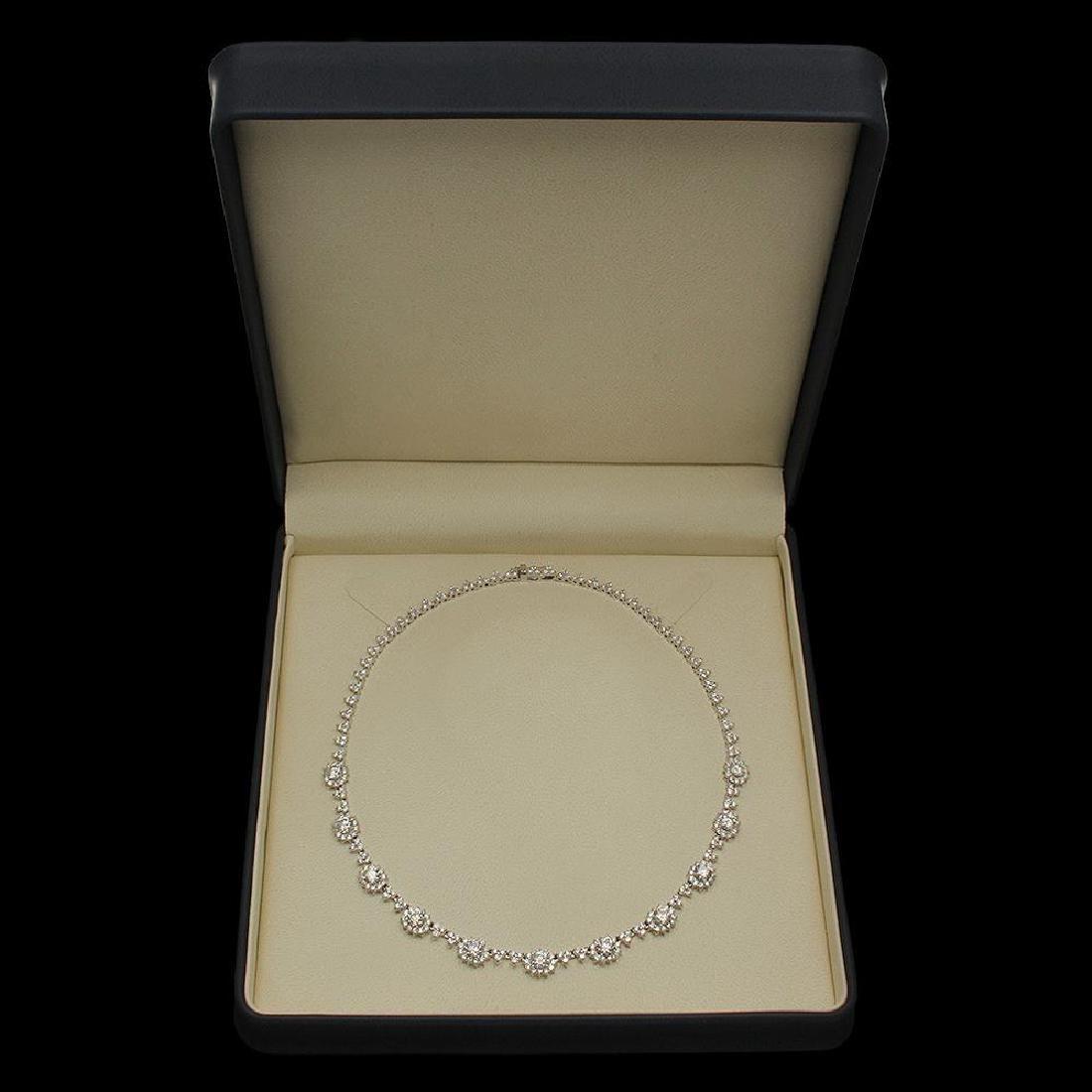 18K Gold 16.81ct Diamond Necklace - 4