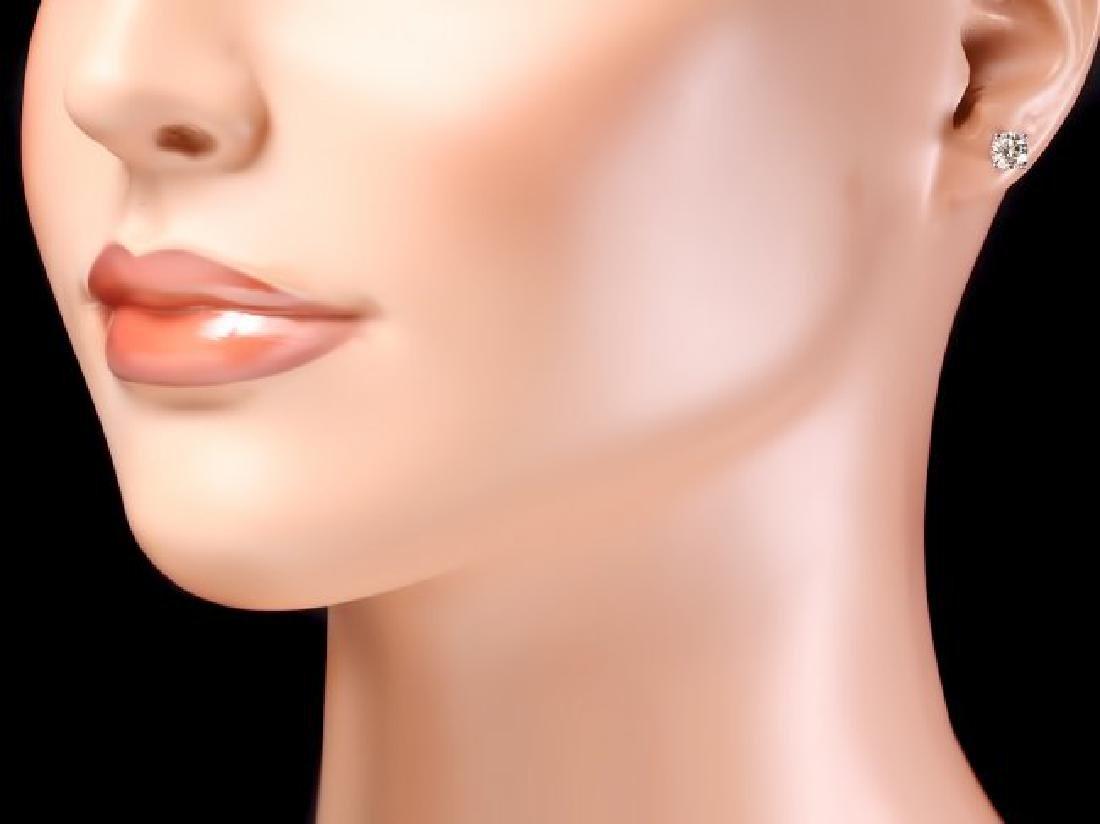 14k White Gold 1.20ct Diamond Earrings - 4