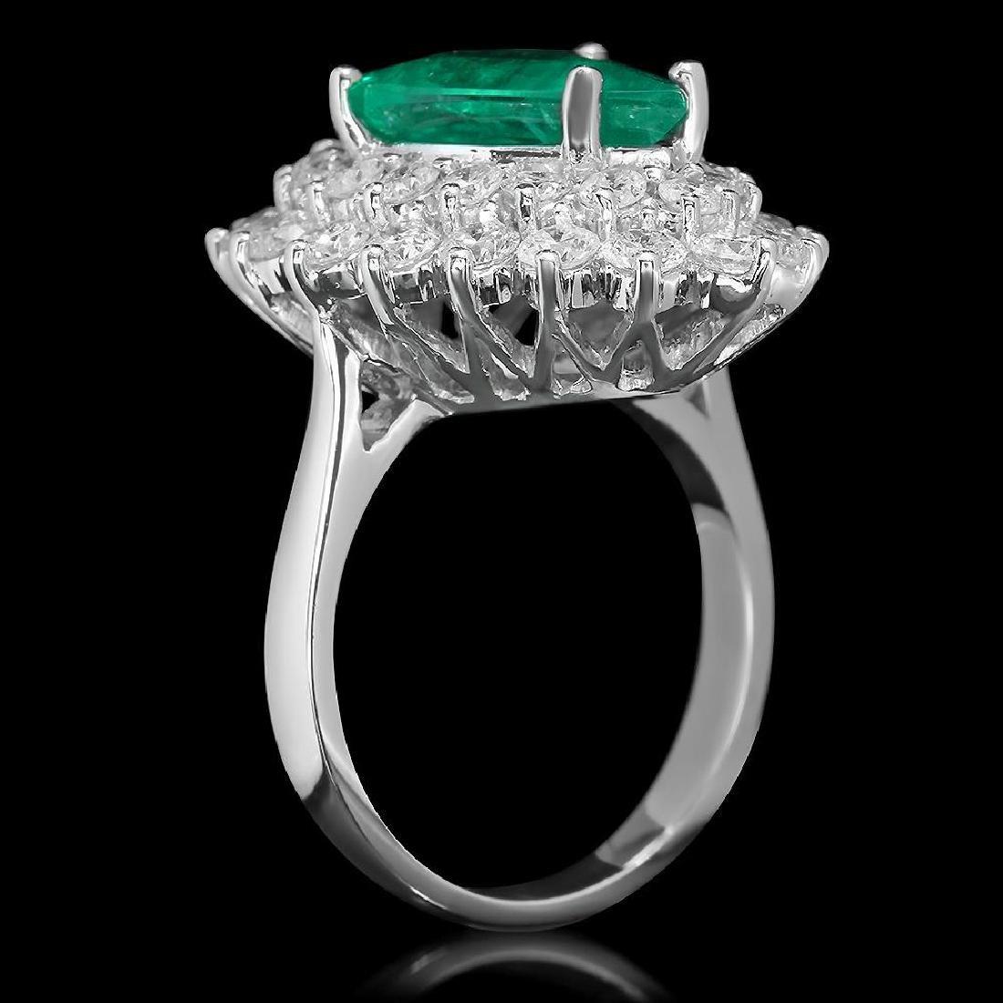 14K Gold 4.89 Emerald 2.65 Diamond Ring - 2