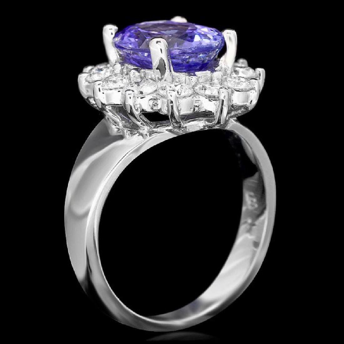 14k Gold 3.50ct Tanzanite 1.30ct Diamond Ring - 3