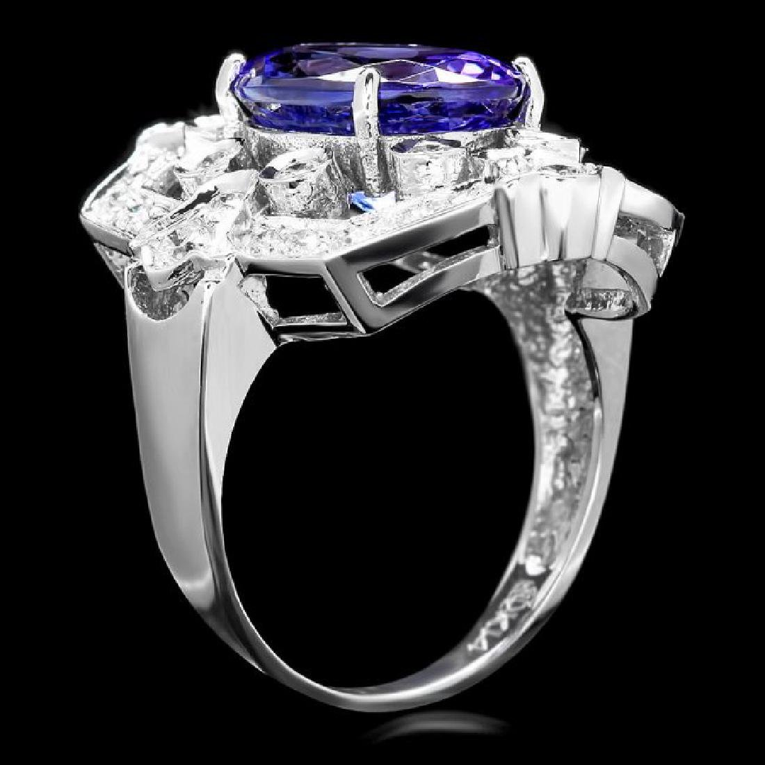 14k Gold 5.50ct Tanzanite 1.00ct Diamond Ring - 3