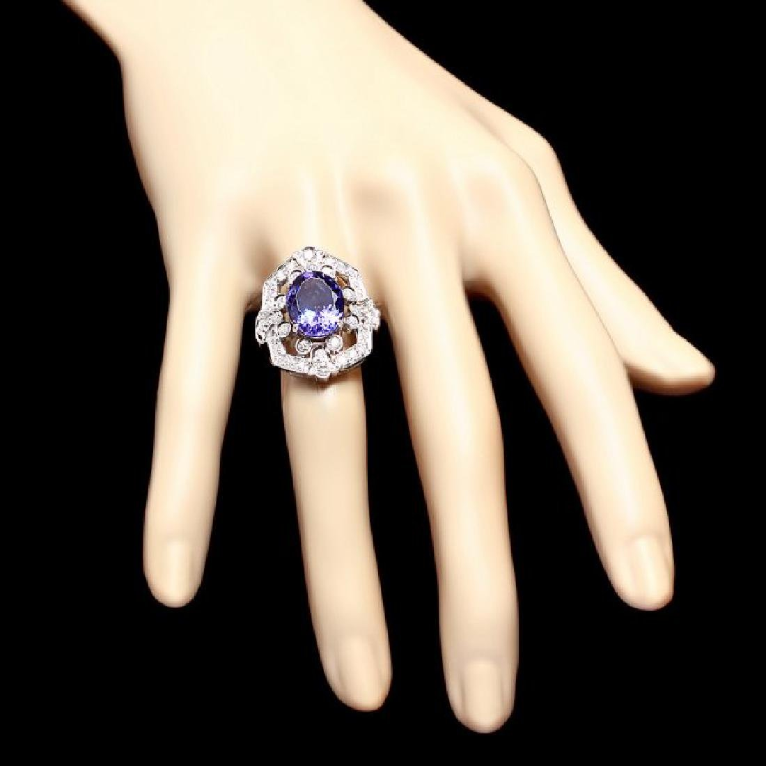 14k Gold 5.50ct Tanzanite 1.00ct Diamond Ring - 4