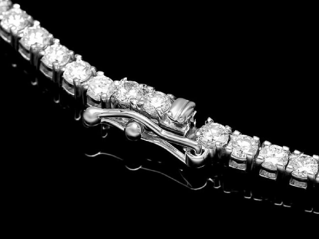 18k White Gold 11.50ct Diamond Necklace - 3