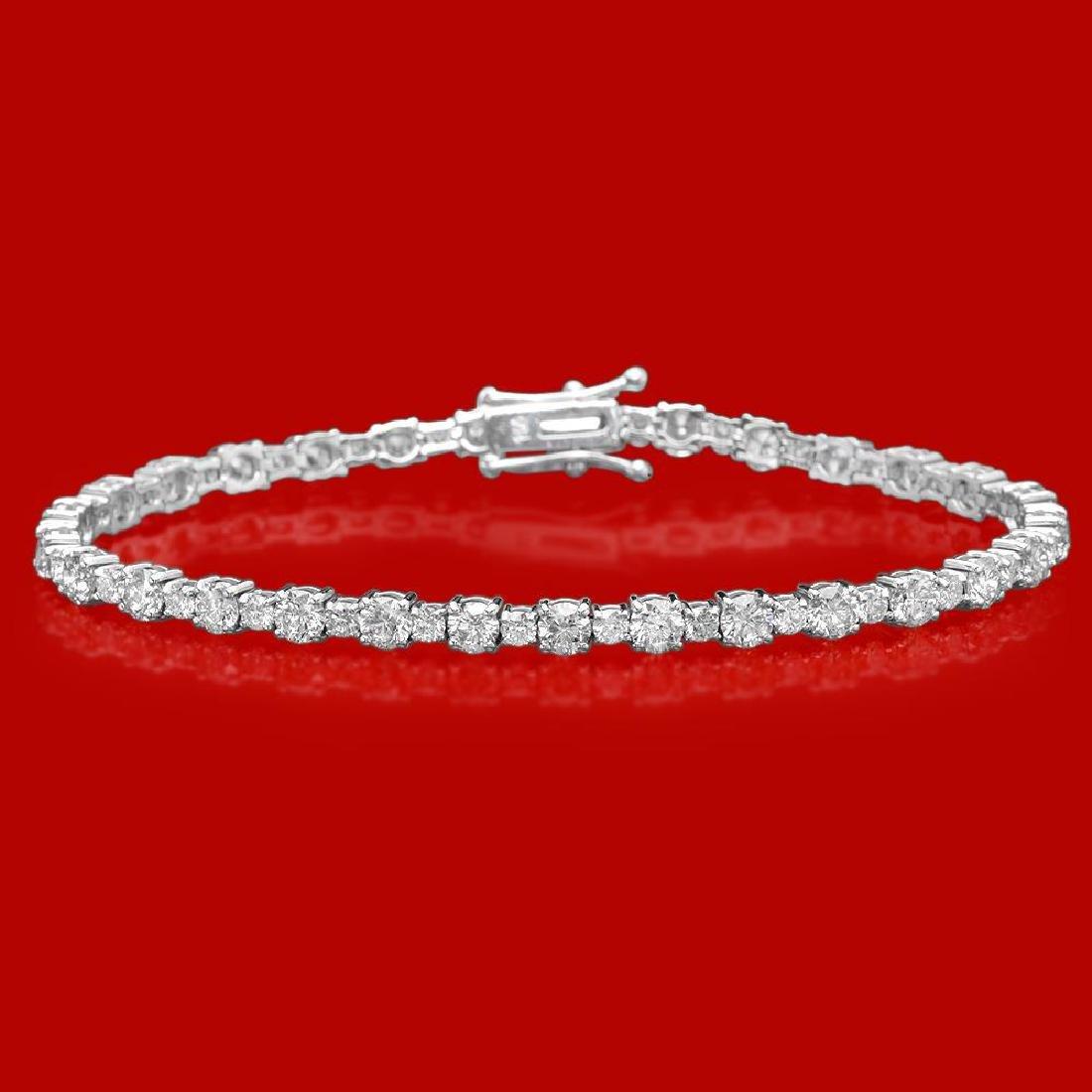 18k Gold 7.50ct Diamond Bracelet