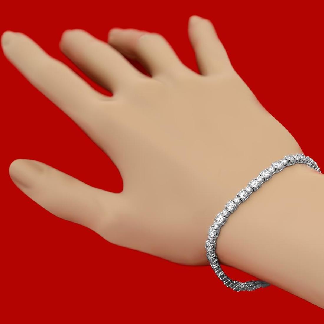 18k Gold 7.50ct Diamond Bracelet - 2