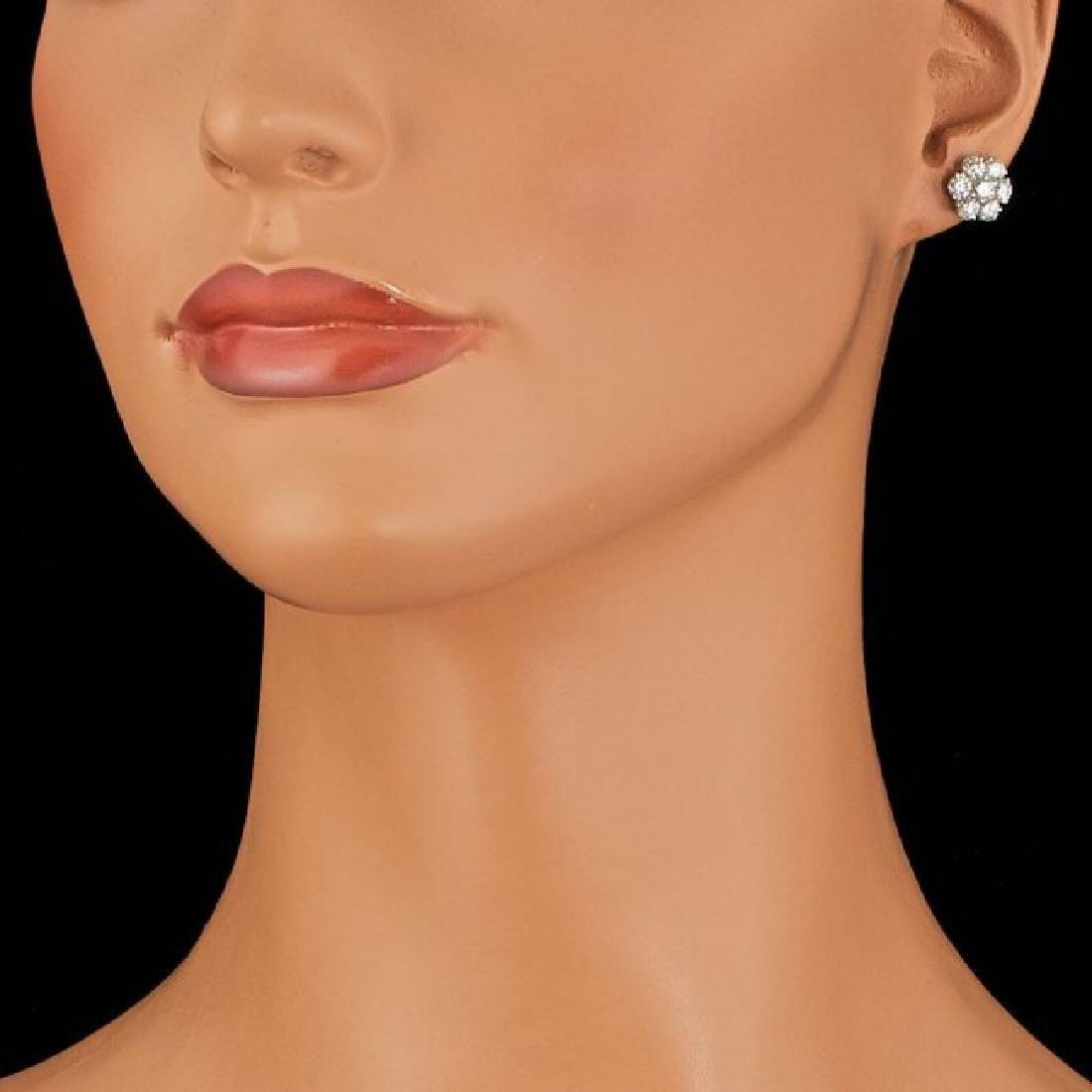 14k White Gold 2.25ct Diamond Earrings - 3