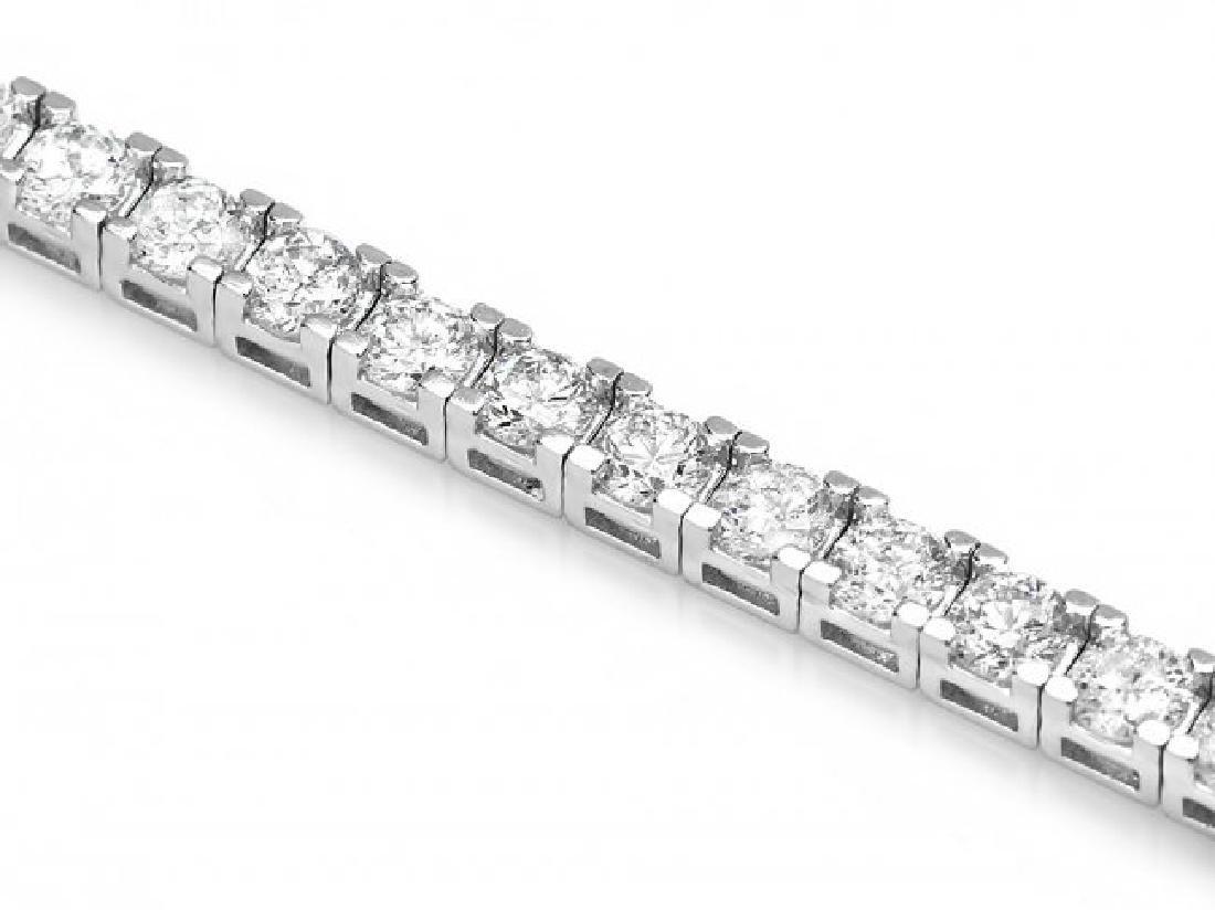 18k White Gold 6.50ct Diamond Bracelet - 3