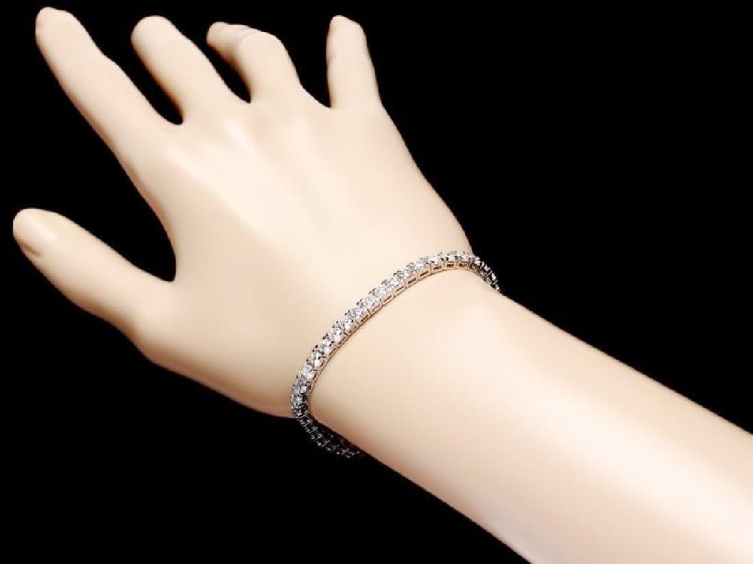 18k White Gold 6.50ct Diamond Bracelet - 4