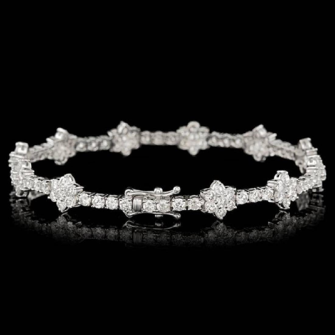 18k White Gold 6.80ct Diamond Bracelet - 3