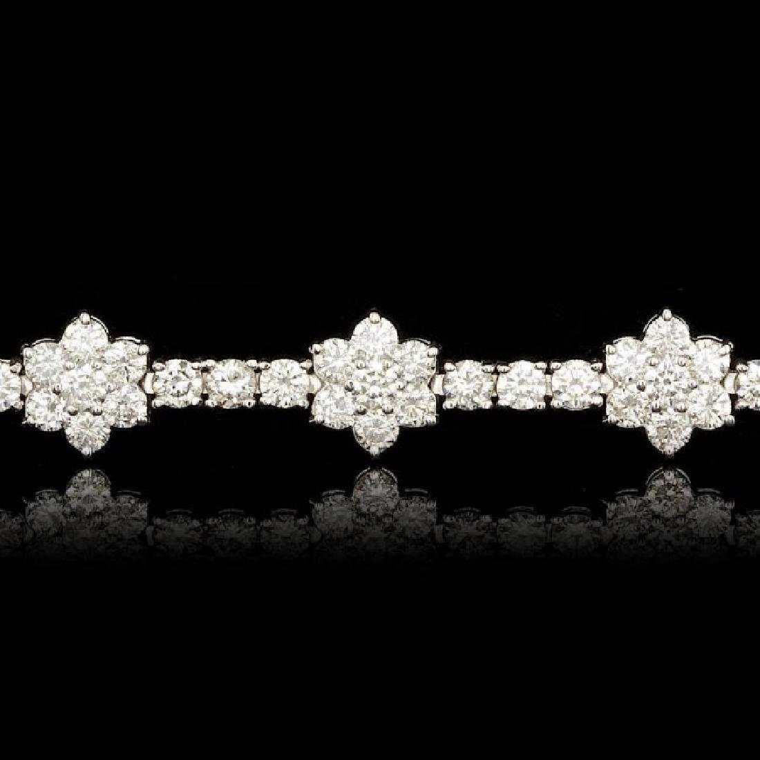 18k White Gold 6.80ct Diamond Bracelet - 4