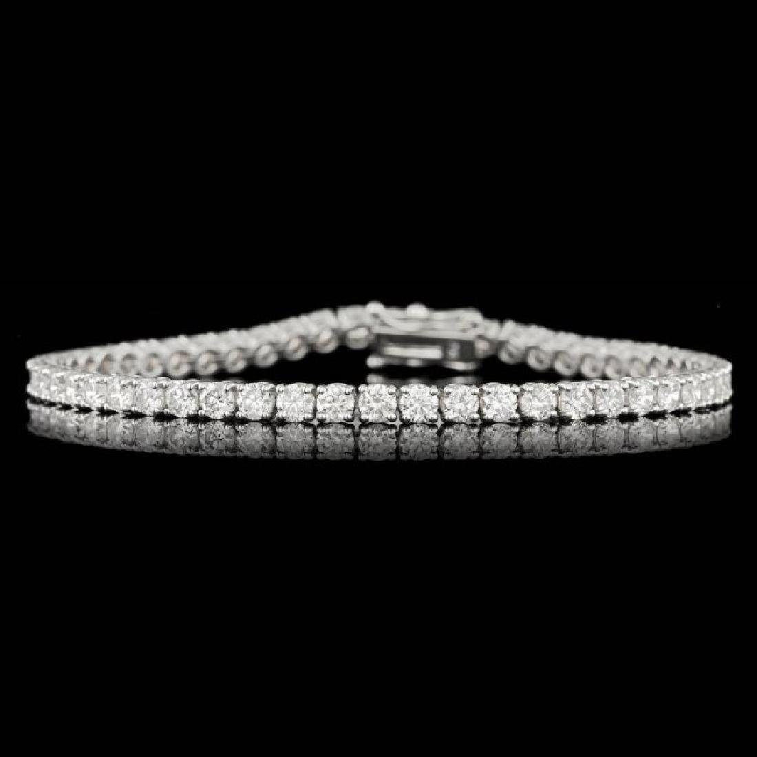 18k White Gold 6.55ct Diamond Bracelet