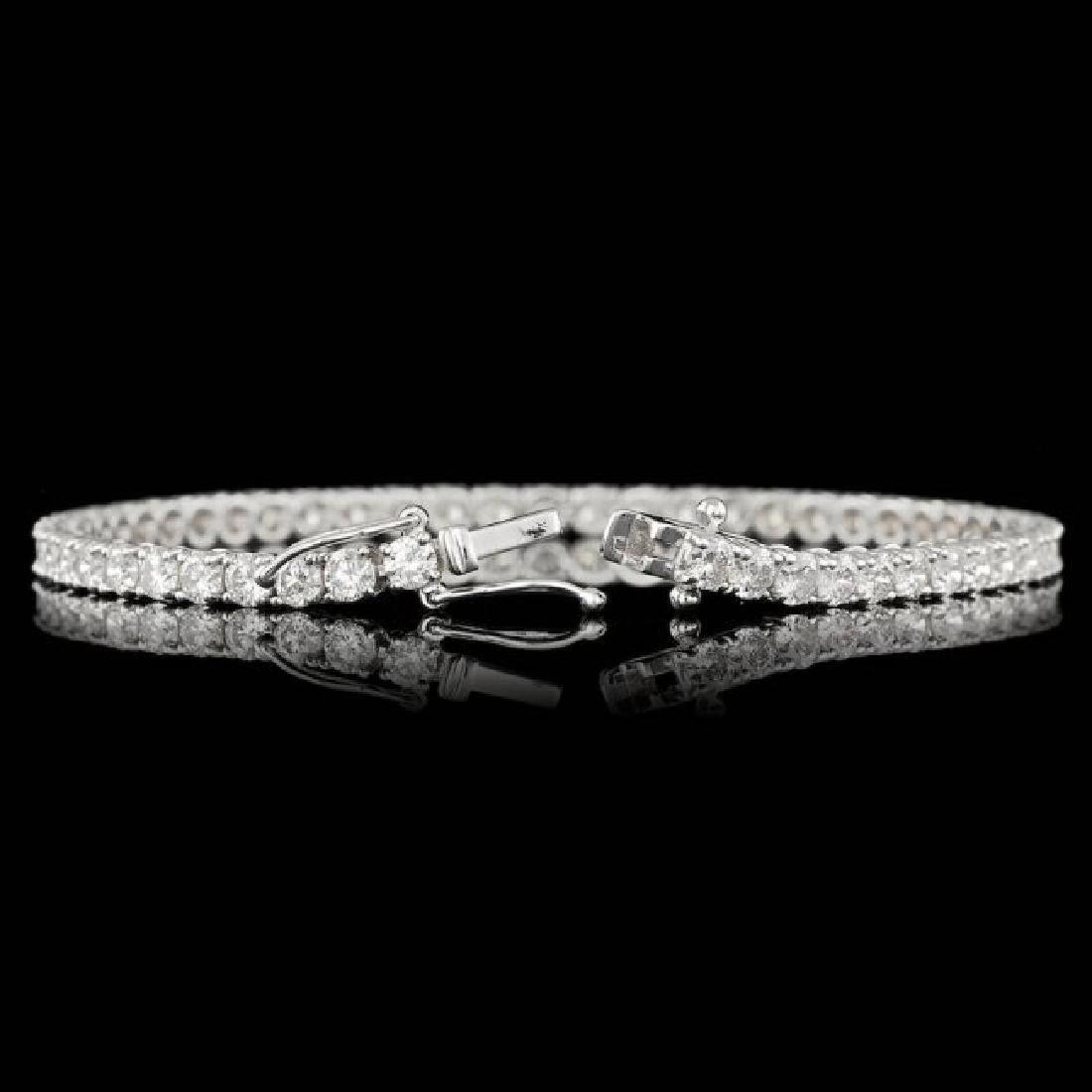 18k White Gold 6.55ct Diamond Bracelet - 2