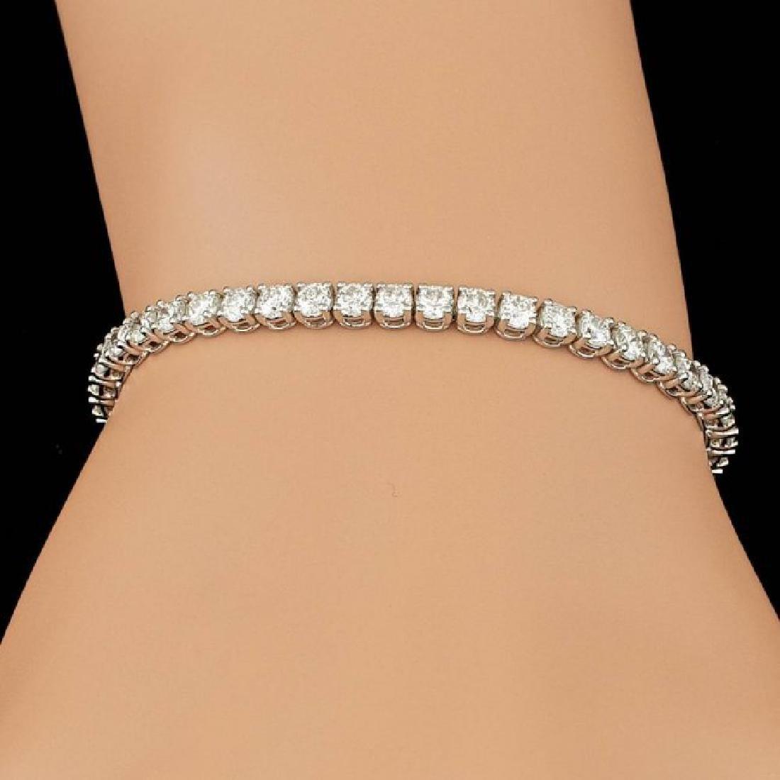 18k White Gold 6.55ct Diamond Bracelet - 4