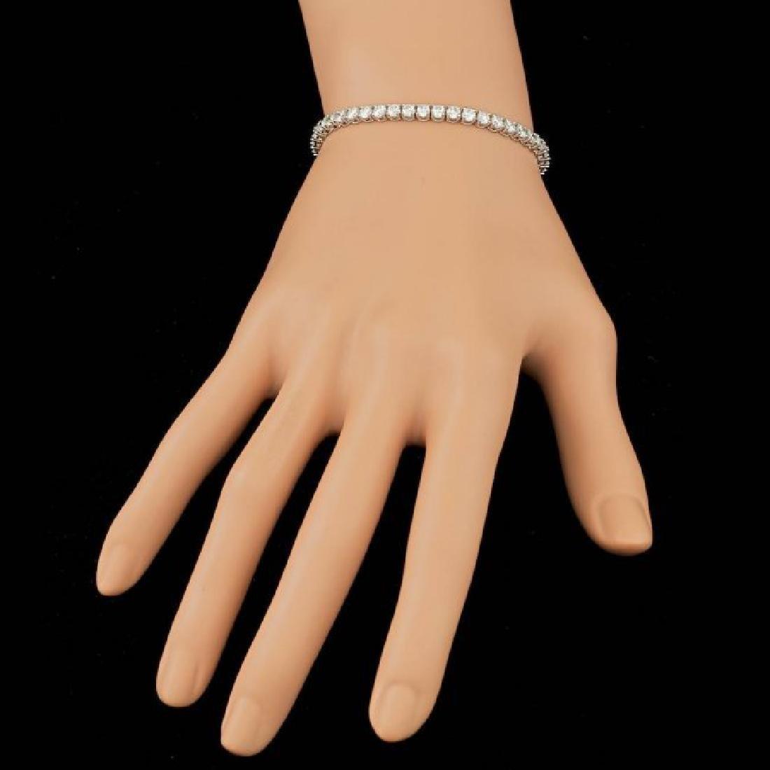 18k White Gold 6.55ct Diamond Bracelet - 5