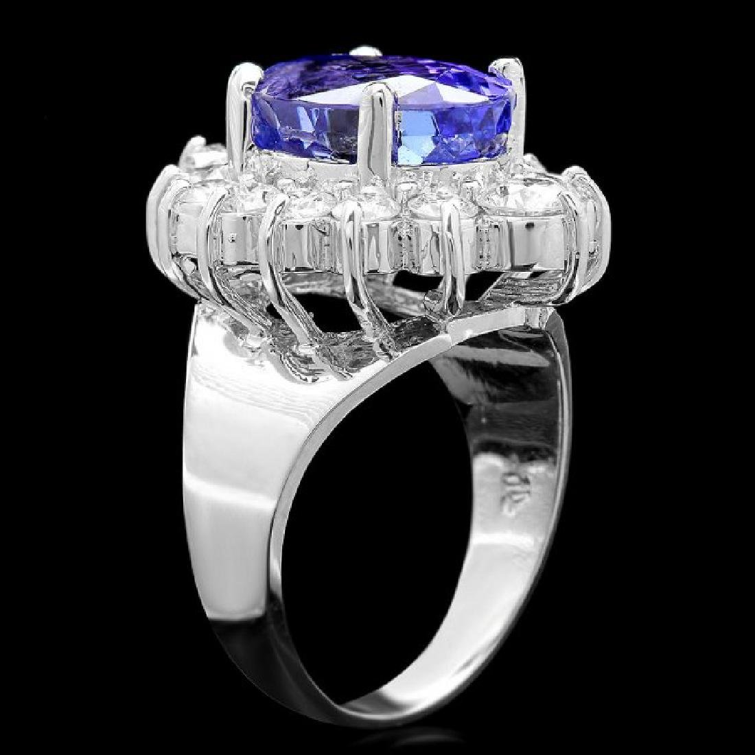 14k Gold 8.50ct Tanzanite 2.00ct Diamond Ring - 3