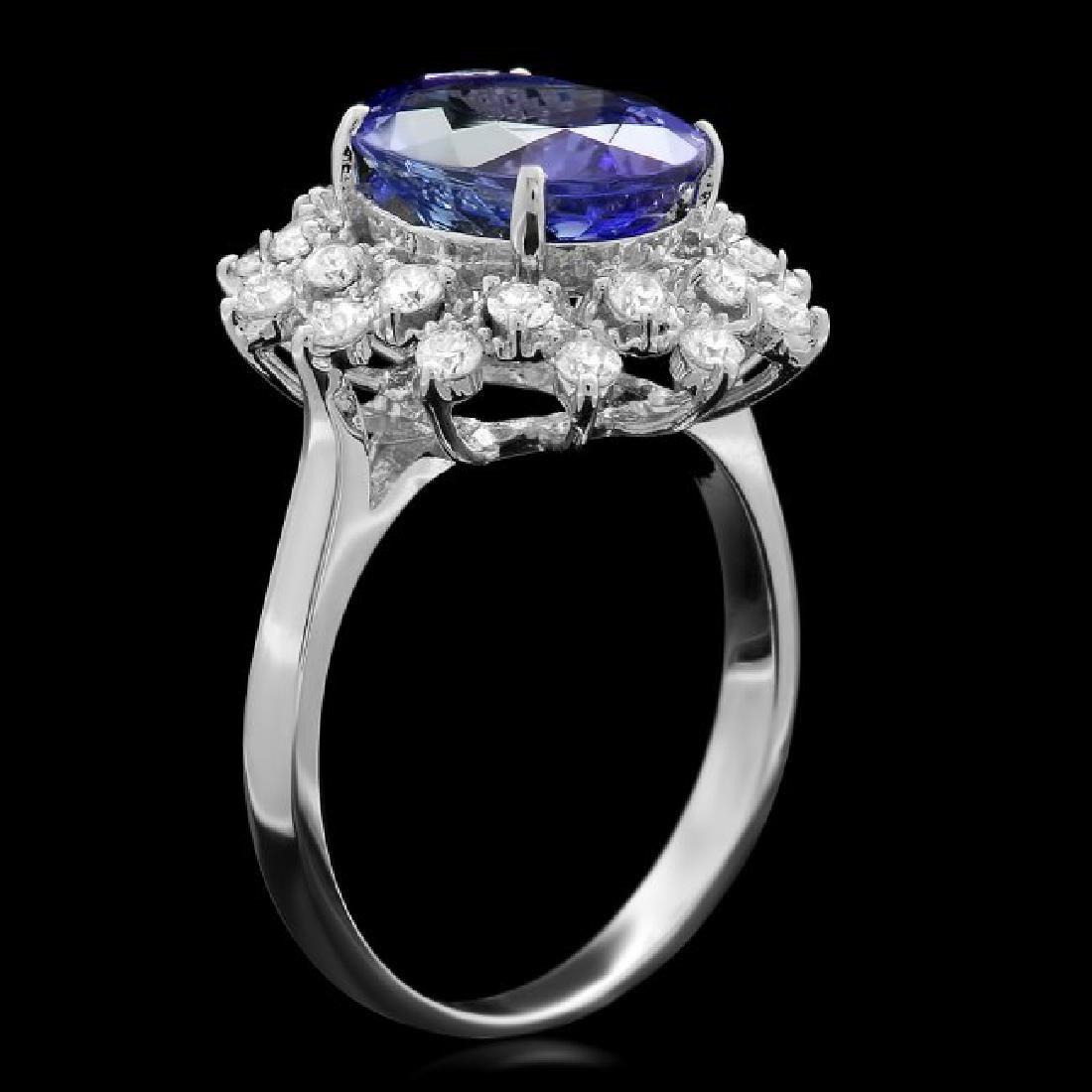 14k Gold 3.50ct Tanzanite 0.60ct Diamond Ring - 2