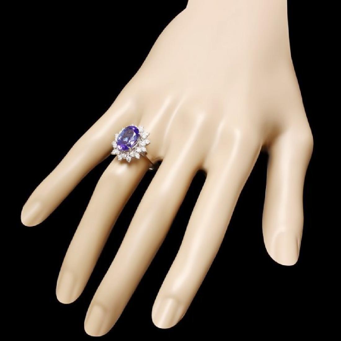 14k Gold 3.50ct Tanzanite 0.60ct Diamond Ring - 3