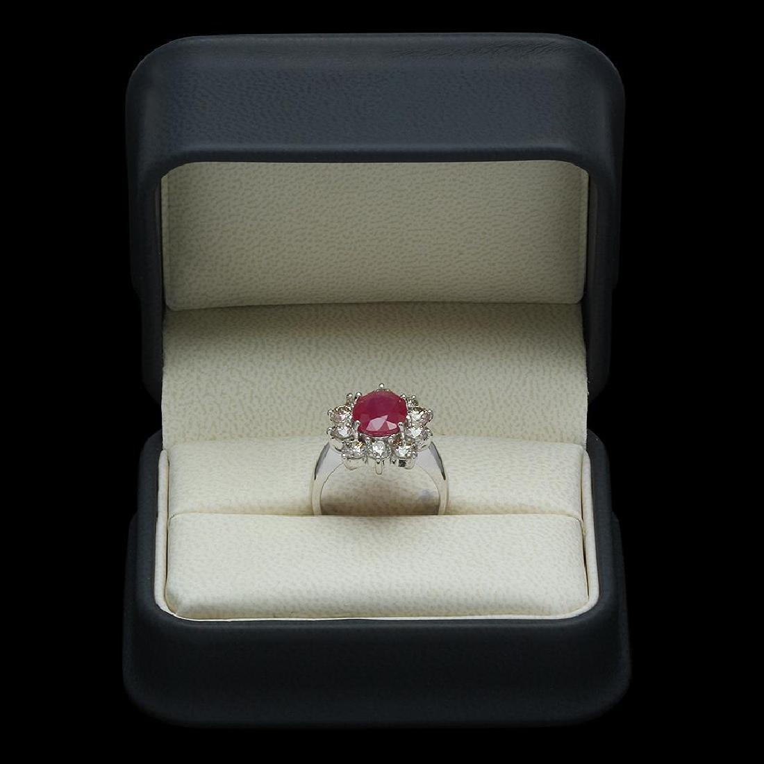 14K Gold 2.95ct Ruby & 2.20ct Diamond Ring - 4