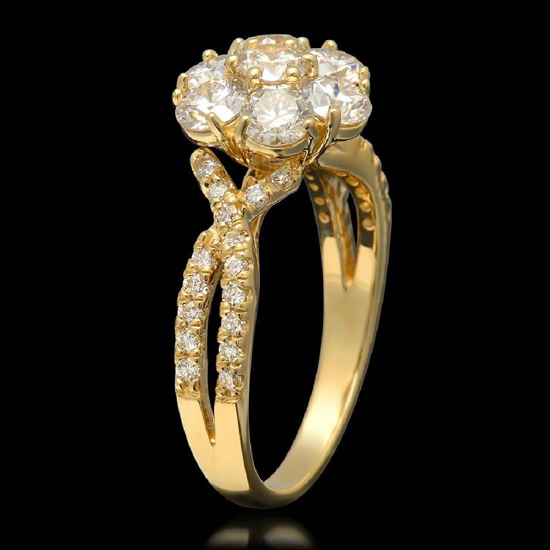 14k Yellow Gold 1.90ct Diamond Ring - 2