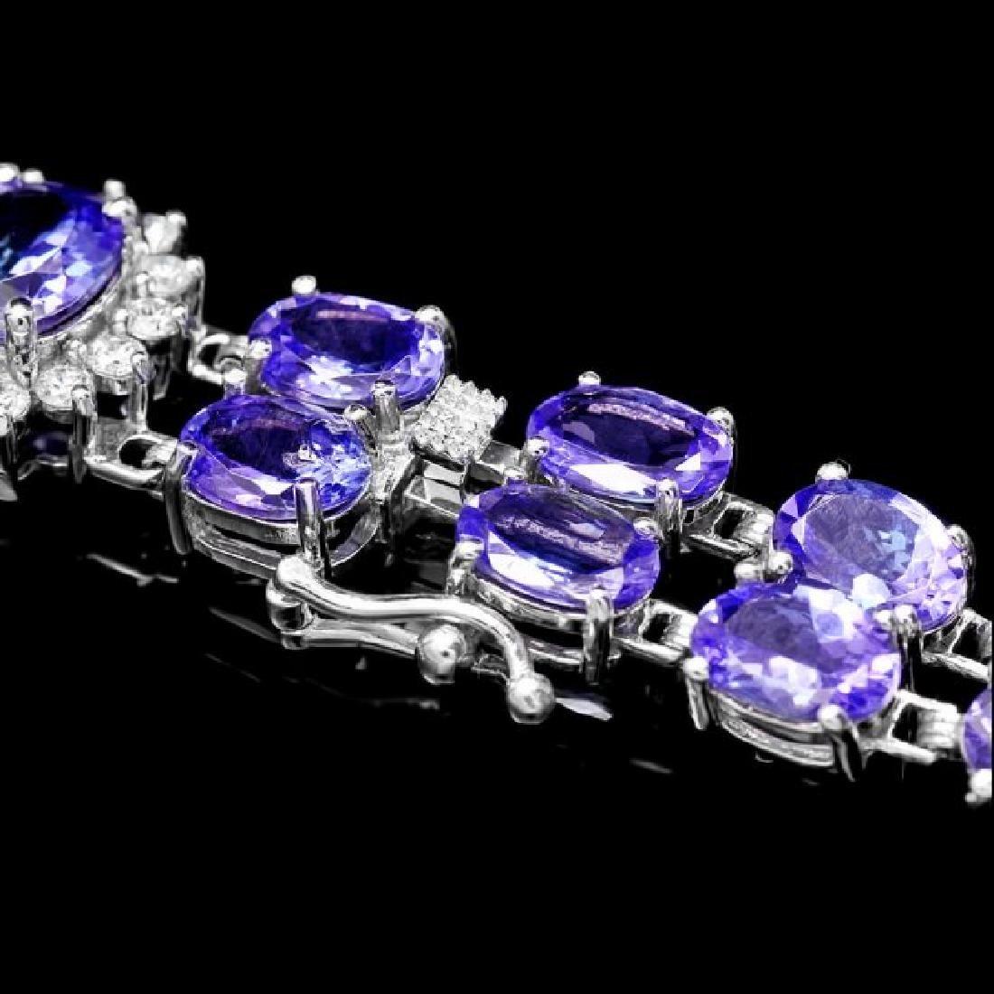 14k W Gold 29ct Tanzanite 1.40ct Diamond Bracelet - 3